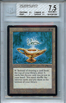 MTG Arabian Nights Aladdins Lamp BGS 7.5  NMt+ Magic  Card 7900