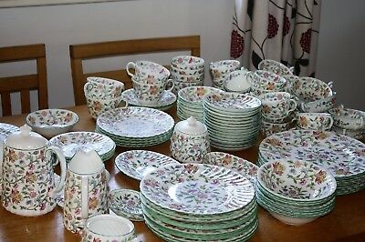 Minton Haddon Hall Breakfast, Dinner and Tea ware Free U.K. Postage