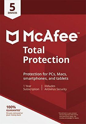 McAfee 2019 Total Protection 1 Year 5 Device Anti-virus/Internet Security Email