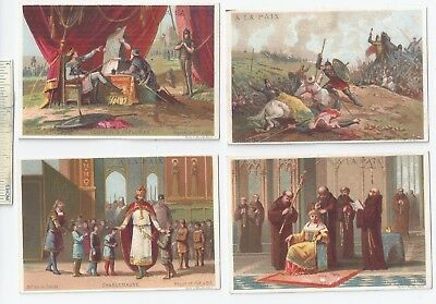#9 c1900 Lot of 4 Diff - A La Paix French Chocolate Advertising Trade Cards Ad