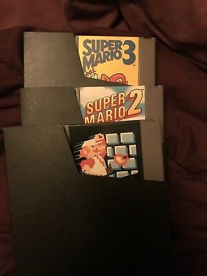 Lot of 3 Super Mario Bros 1 2 3 Trilogy Games Nintendo NES Bundle Free Shipping