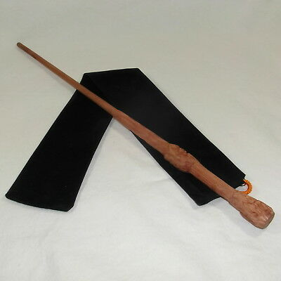 "16"" Hand Carved Mahogany Wood Harry Potter Magic Wand Wizard Cosplay w/ Free Bag"