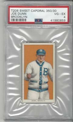 1909-1911 T206 Baseball Joe Dunn PSA 4 graded card Brooklyn Sweet Caporal 350/30