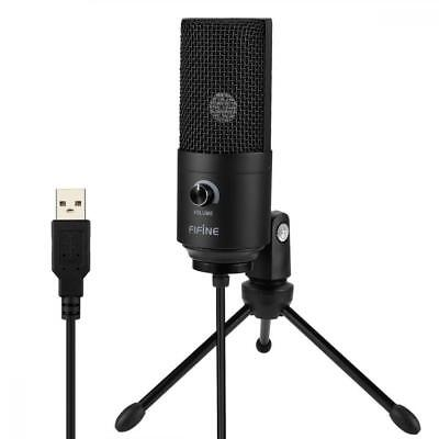 USB Microphone Fifine Metal Condenser Recording Microphone Laptop MAC PC K669B