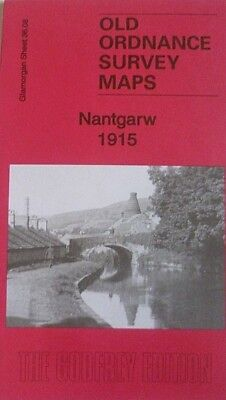 OLD ORDNANCE SURVEY DETAILED MAPS NANTGARW GLAMORGAN 1915 Godfrey Edition