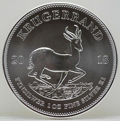 2018 South Africa Krugerrand 1 Oz Fine Silver Coin - JY900
