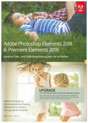 Adobe Photoshop and Premiere Elements 2018 (Mac/Win) Upgrade NEW