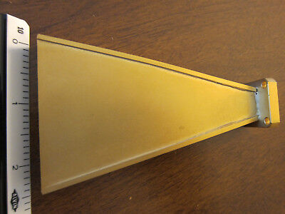 WR42 18-26.5GHz H-plane Sectoral Horn Antenna GOLD Plated 1.2cm 24GHz New