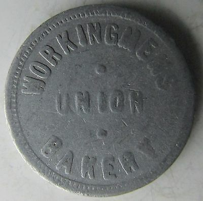 Canada, Manitoba, Winnipeg, WORKINGMENS UNION BAKERY. g.f. 1 Loaf Trade Token