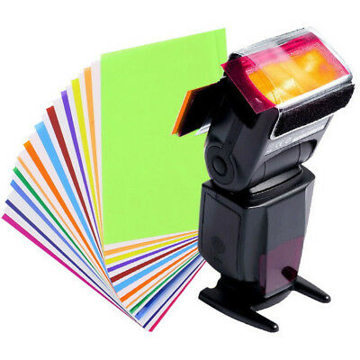 12 Colors Set Gel Filter For Strobe Light Photography Flash Studio Lighting New