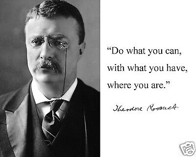 """Theodore Teddy Roosevelt """"do what..."""" Motivational Quote 11 x 14 Photo Picture"""