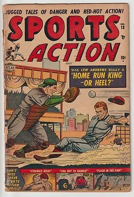 SPORTS ACTION #13,SCARCE 1952 ATLAS TITLE,10c COVER