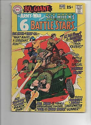 DC Comics    Our Army At War #190  80pg Giant Solid VG   Sgt Rock