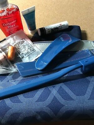 AIR FRANCE Business Class Amenity Kit  Blue #4 Free Shipping