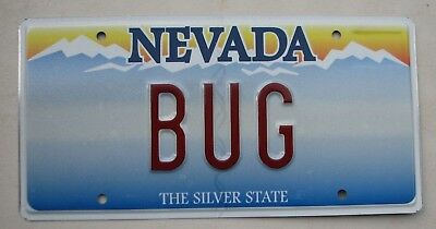 "Nevada Vanity License Plate "" Bug "" Vwbug Vw Volkswagen Beetle Bugs Insect"