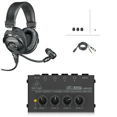 a6f798cc1fc Audio-Technica BPHS1+Headphone Amp Broadcast Stereo Headset & Dynamic Boom  Mic