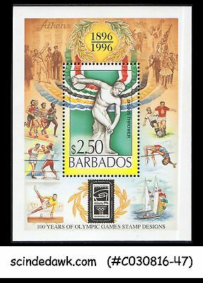 Barbados - 1996 100 Years Of Olympic Games Stamps - Min/sht Mnh