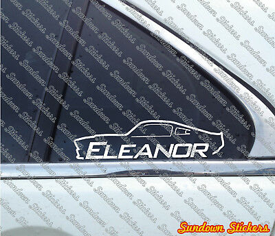 2x  ELEANOR muscle car stickers - for Ford Mustang Shelby GT500 E