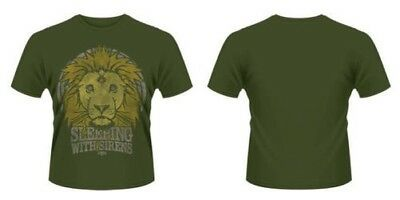 Neuf Officiel Sleeping With Sirens - Lion Crête T-Shirt