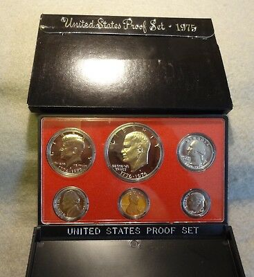 1975-S Us 6 Coin Proof Set In Original Box