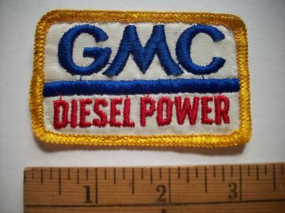 1970-1980 New Vintage Embroidered  GMC Diesel Power Patch NOS