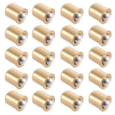 5mm Ball Dia Brass Electroplating Door Cabinet Ball Catch Latch Closures 20pcs