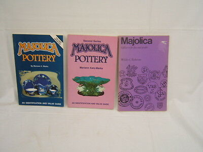 Lot of 3 Majolica Pottery Books paperback Illu. VGC free/ship