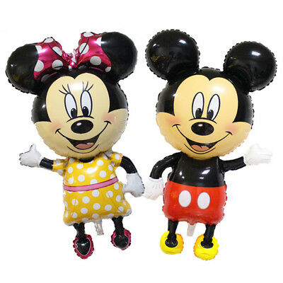 "118cm 44"" Disney Mickey Minnie Mouse Giant Foil Balloons Kids Children Birthday"