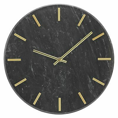Argos Home Montgomery Marble Wall Clock - Black & Gold