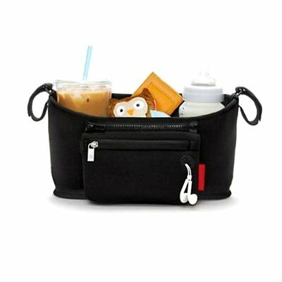 Universal Stroller Organizer with Removable Zipper Pouch Bag Gc
