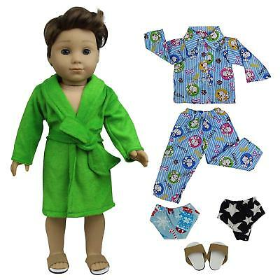5e0f65af223 5pcs Pajamas Nightdress Outfit Doll Clothes for 18