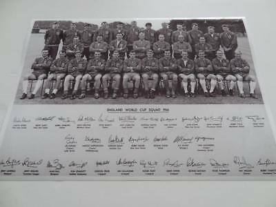 England 1966 World Cup Full Squad Alf Ramsey Bobby Moore + 29 Signed Reprint