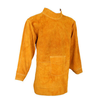 85CM Leather Welding Apron Protective Safety Clothing Carpenter Tools Yellow