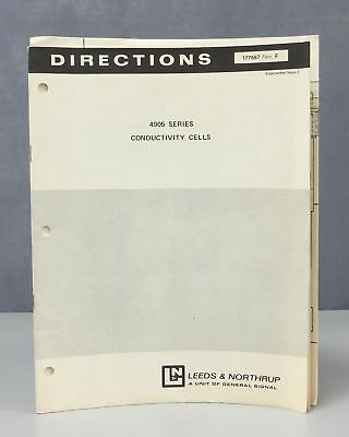 Leeds & Northrup L&N 4905 Series Conductivity Cells Directions
