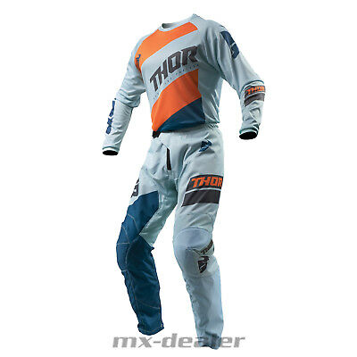 19 Thor Sector Cross Jersey Hose MX Combo Shear orange grau motocross Enduro BMX