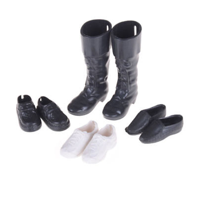 4 Pairs Boy Dolls Shoes Sneakers Knee High Boots for Barbie Dolls New Fashion