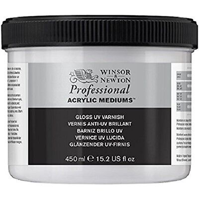 Winsor & Newton Professional Acrylic Medium Gloss Uv Varnish, 450ml - Varnish