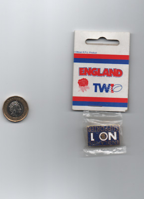 Rugby Union metal enamel badge England's No.1 Supporter