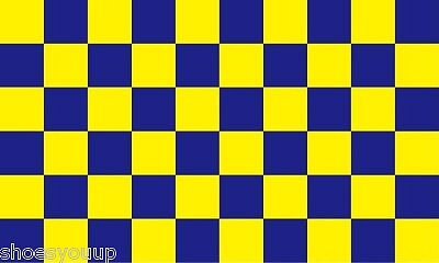 Surrey Blue And Yellow Check 5ft x 3ft (150cm x 90cm) Flag Banner