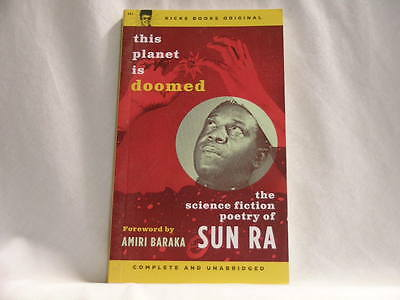 SUN RA This Planet Is Doomed Science Fiction Poetry PAPERBACK BOOK Amiri Baraka