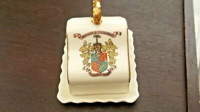 Vintage Cheese Dish & Underplate  Crested Borough Of Bournemouth By Gemma China