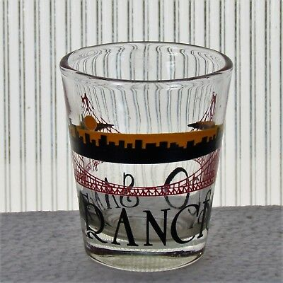 Vintage Shot Glass San Francisco Skyline Golden Gate Bridge