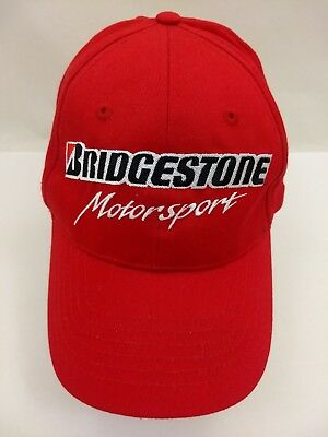 BRIDGESTONE MOTORSPORTS RED Adjustable Snapback Baseball Cap Trucker ... b5aacce5e5e
