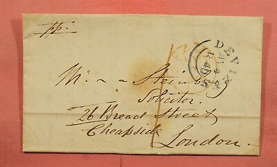 1840 Gb Stampless F/l Devizes Cancel To London