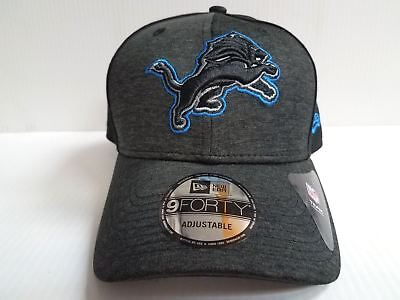 best website 41ada d318f Detroit Lions Cap New Era 9Forty Adjustable Black Shaded Front Hat NFL