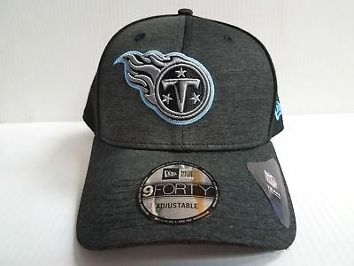 super popular 72e74 3e51f Tennessee Titans Cap New Era 9Forty Adjustable Black Shaded Front Hat NFL