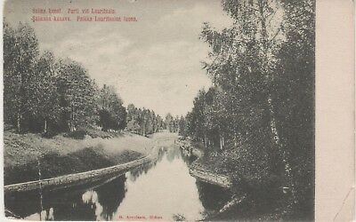 Salma kanal. Parti vid Lauritsala. 1911 B&W print postcard. Fair condition. Used
