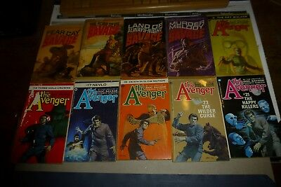 Kenneth Robeson lot of 10 vintage paperbacks Doc Savage/The Avenger series