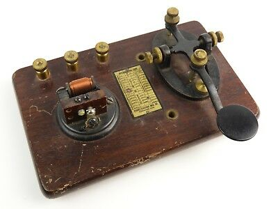Signal Electric Mfg. Co. R-68 Telegraph Straight Key Morse Code Tapper Untested