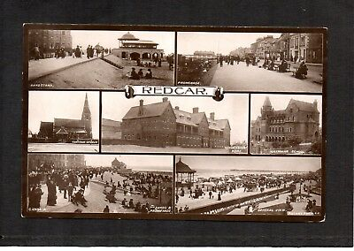 Redcar. Early Real Photo Multiview Postcard